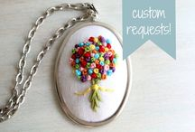 Embroidered Jewelery