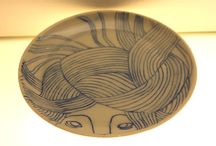 plieste ceramics / A illustrated ceramic plate from the Hydra series, Piia Lieste