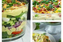 Pasta and deviled egg salad