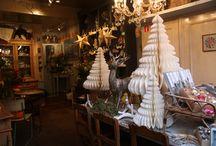 Kerst bij Galerie Moen 2014 / Brocante en nieuwe kerst decoratie. En kerststukken.