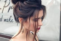 Hairstyles / different styles for hair. Colors and trends for hair. Haircuts. Messy bun