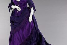 French dresses around 1845 / French dresses made of silk, cotten, lace