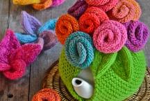 Knitting tea cozies