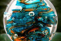 GLASS SCULPTURES AND ART