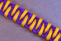 survival bracelets and other paracordials / bracelets made of paracord