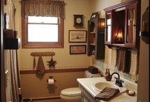 Primitive Bathrooms♥ / by Lisa DeCicco