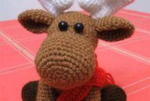 рождественский олень схема вязания