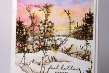 Winter card ideas