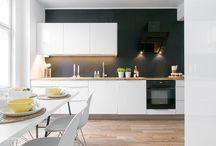 Scandinavian style / Scandinavian modern and classic interiors