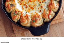 cheesy garlic knot pizza dip