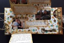 """Cuento de #boda artesanal / Los amigos de Ander y María querían hacerles un regalo original y tenían pensado hacerles un álbum con fotos que tenían recopiladas. Sin embargo, para que fuera mucho más especial, contactaran con """"Un relato para cada rato"""" para que escribiéramos su historia y montáramos el cuento con las fotografías que nos dieron. El resultado fue el cuento de """"La ratoncita merengue y el león"""" en un artesanal formato scrapbook."""