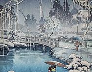 Japanese Wood Block Prints of Snow / by Anna Pajunen