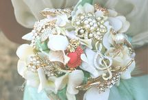 Embrace Your Bouquet  / Custom made bridal brooch bouquets made by Embrace Your Vintage.