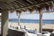 Ibiza beach restaurants / The quintessential Ibiza dining experience.  http://www.white-ibiza.com/restaurants/beach-restaurants