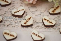 coeurs en bois mariage decoration table