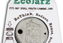 EcoJarz / Available at www.thepintandahalf.com! An eco-friendly alternative to disposable travel cups.  Works great with a 12-ounce quilted jelly jar.  Add a glass or stainless steel straw for on-the-go drinks.  Wide mouth options coming soon!