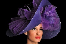 Millinery. Pretty in pink and purple