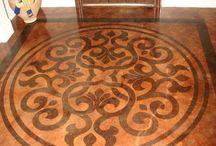 podłoga malowana wzor