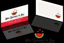 Cartão de visitas - arte / Arte para cartão de visitas da nutricionista Leticia Guimarães.