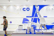 Charlie Oscar Patterson at The Conran Shop Selfridges / The Conran Shop's Selfridges store opened during London Design Festival in September 2015 and in celebration of its first anniversary, South London-based artist and designer Charlie Oscar Patterson created a live painting installation, enhancing the space with his signature brightly coloured, graphic style.