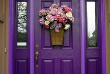 Front Door Colors / Colorful doors can compliment your exterior.