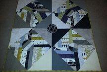 Modern improv quilts