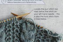 Tuck stitches