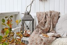 fall balcony decor