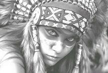 Indianen Gezichten