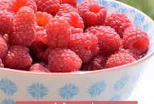 Farmhouse Food | Raspberries / Glorious raspberries. Growing, eating and making simple desserts or drinks with raspberries.