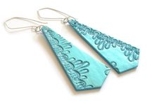 Clay earings / So many ideas, so little time!!! / by Rebecca Edwards