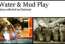 Water & Mud Play / Different ways to use water and mud for #preschool
