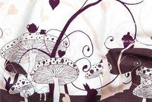 Collection IMPRIMES / GOTS organic printed fabrics - Tissu bio imprimé Amandine Cha - Les Trouvailles d'Amandine