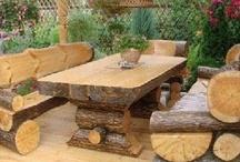 dílna, dřevo a zahrada