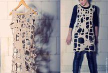 Nunofelting dress 2 / fashion and felting