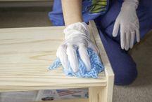 bleach wood , painting wood