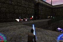 Star Wars Jedi Knight III Jedi Academy + Knights Of The Force / PC game that came out in 2003 is still good and still today. It is variously complement characters or weapons or maps.