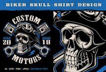Biker shirt designs.