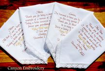 Family, Wedding Gifts / Embroidered Wedding Handkerchiefs by Canyon Embroidery Embroidered Wedding Handkerchiefs, Make your wedding extra special by getting your handkerchiefs personalized! They make wonderful gifts for the Mother, Father of the Bride & Groom. And wedding party. ❤ #wedding #fallwedding #gift