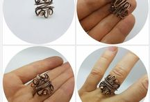 Wire Wrapped Copper Rings