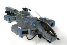 LEGO gun ships