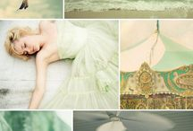 sea foam green, and pale tones