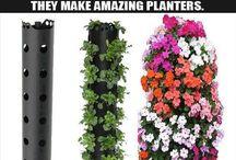jardim vertical + flores