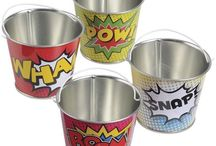 Superhero Party Theme / Got a Superhero in the house?  They'll love these superhero themed products!