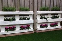 pallets in tuin
