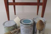 reciclar con chulk paint