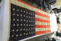 Happy 4th of July! / Flags and other independence day and early U.S. objects from the artifacts collection at Chatham Historical Society, Chatham, MA. #atwoodhouse, #flag, #flags, #chatham, #chathamhistoricalsociety, #capecod