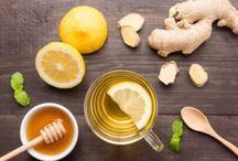 lemon, ginger, honey drink