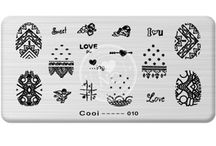 NailCandi COOI Stamp Plates / Awesome rectangular stamp plate with funky designs. Available from https://www.nailcandi.co.za