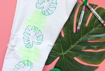 Tulip Fabric Marker Projects / Creative ways to use Tulip Fabric Markers to color, decorate, and DIY everything fabric!
